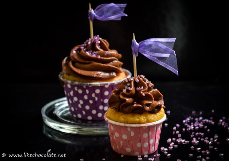 Cupcakes s tamnom čokoladom i narančom by Matejka