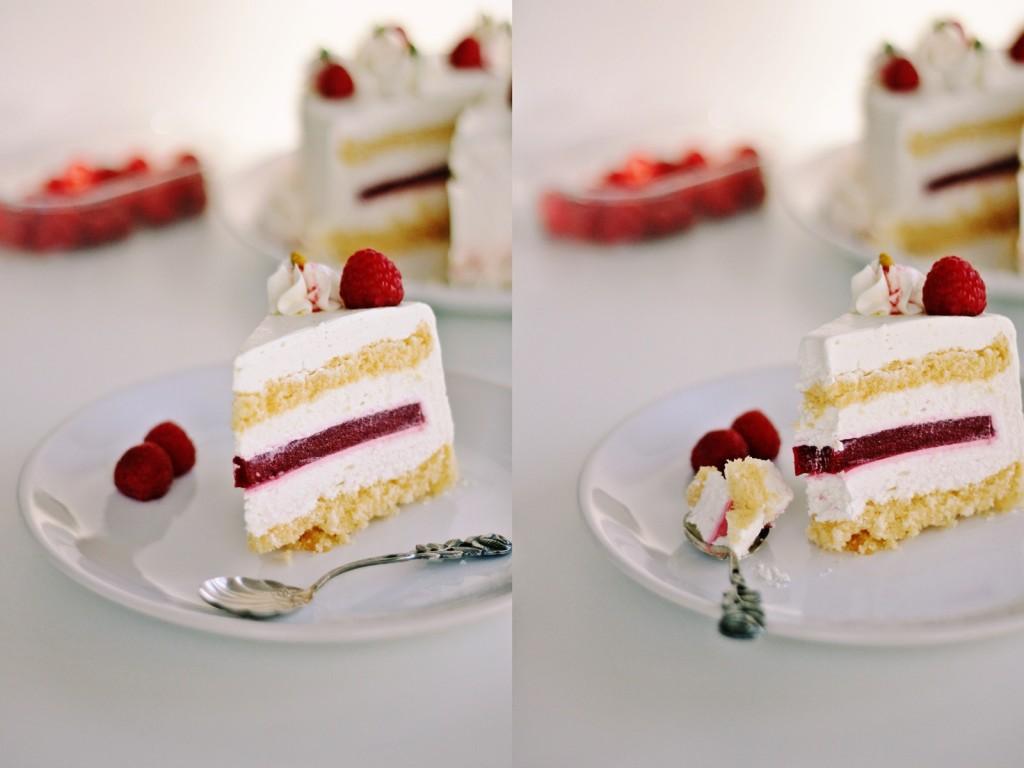 Mousse torta od bijele čokolade i malina